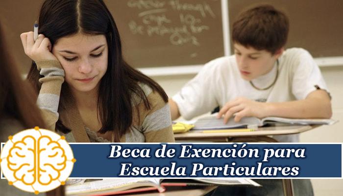 Beca de Exención para Escuela Particulares