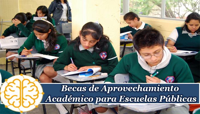 Becas de Aprovechamiento Académico para Escuelas Públicas